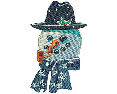 Embroidery Design: Snowman Smile Med 1.85w X 3.00h