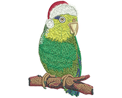 Embroidery Design: Christmas Bird Lg 2.69w X 3.97h