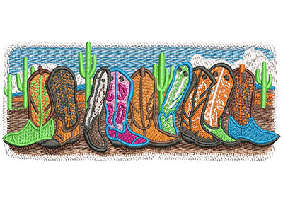 Embroidery Design: Boots Are Made For Walking Med 4.99w X 2.00h
