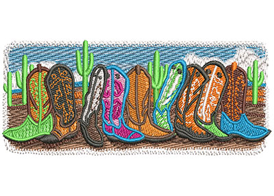 Embroidery Design: Boots Are Made For Walking Sm 3.99w X 1.60h