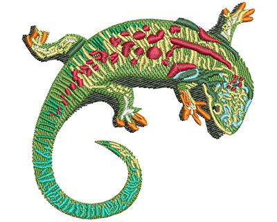 Embroidery Design: Lizard Curl Lg 3.50w X 3.28h