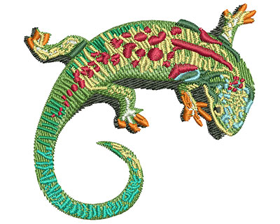 Embroidery Design: Lizard Curl Med 3.00w X 2.81h