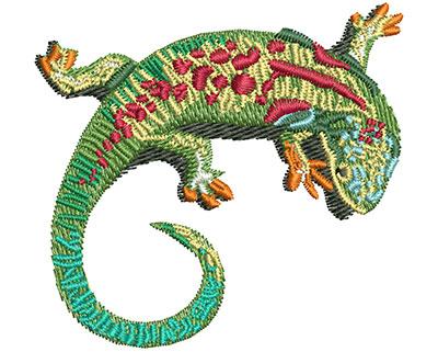 Embroidery Design: Lizard Curl Sm 2.50w X 2.34h