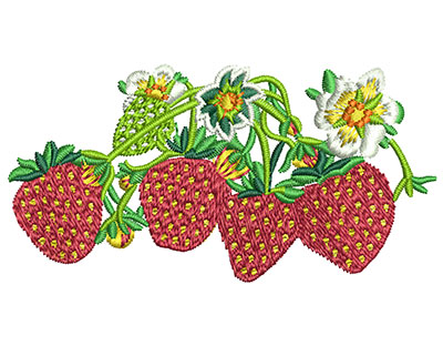Embroidery Design: Strawberry Batch Med 2.95w X 1.50h