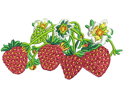 Embroidery Design: Strawberry Batch Sm 2.45w X 1.25h