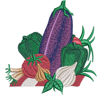 Embroidery Design: Vegetable Layout Med 3.86w X 4.02h