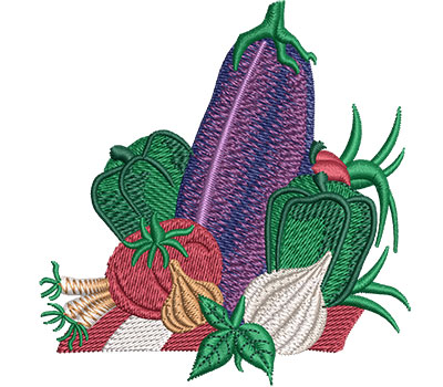 Embroidery Design: Vegetable Layout Sm 3.38w X 3.52h