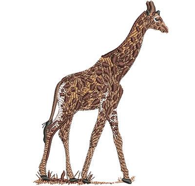 Embroidery Design: Giraffe Walking Lg 3.30w X 4.52h