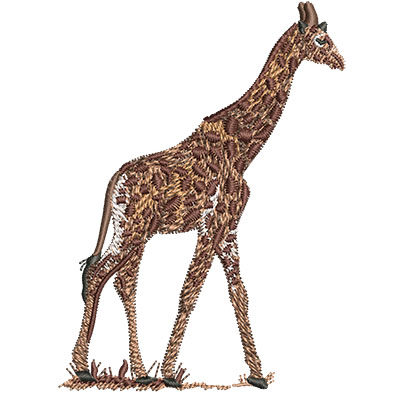 Embroidery Design: Giraffe Walking Med 2.95w X 4.02h
