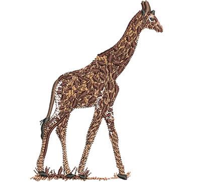Embroidery Design: Giraffe Walking Sm 2.58w X 3.52h