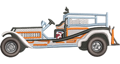Embroidery Design: Vintage Fire Truck Med 4.02w X 1.72h