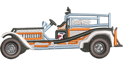 Embroidery Design: Vintage Fire Truck Sm 3.02w X 1.29h