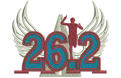 Embroidery Design: Marathon 26 Lg 4.01w X 3.18h