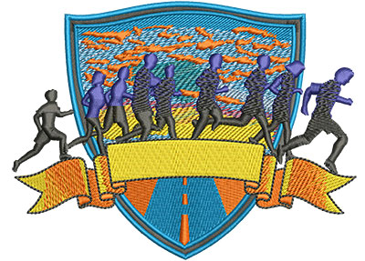 Embroidery Design: 5k Run Med 5.33w X 4.02h