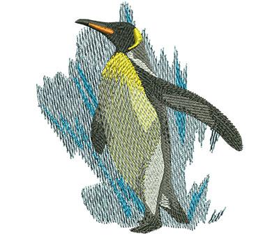 Embroidery Design: Penguin Walk Lg 3.51w X 3.95h