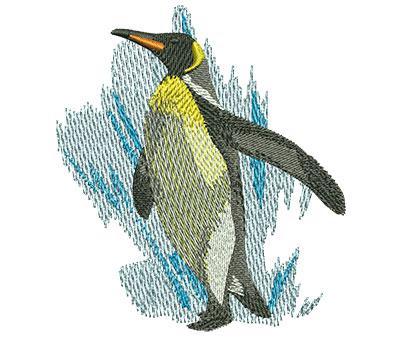 Embroidery Design: Penguin Walk Med 3.06w X 3.44h