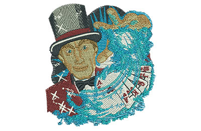 Embroidery Design: Vegas Magician Med 3.47w X 3.85h
