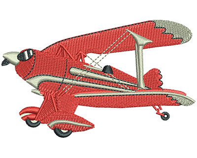 Embroidery Design: Biplane Lg 3.51w X 2.13h