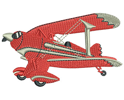 Embroidery Design: Biplane Med 3.01w X 1.83h