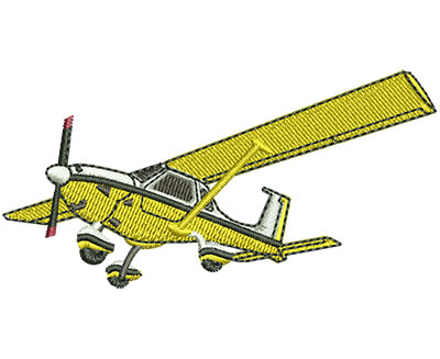 Embroidery Design: Jubiru Plane Sm 3.00w X 1.50h