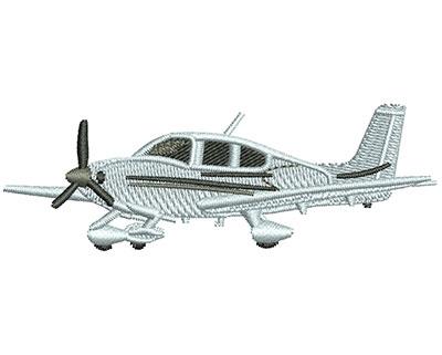 Embroidery Design: Cirrus Plane M 1.01H X 3.00W