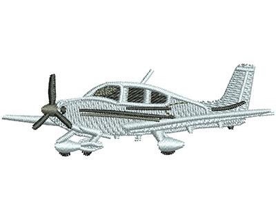 Embroidery Design: Cirrus Plane S 0.85H X 2.51W