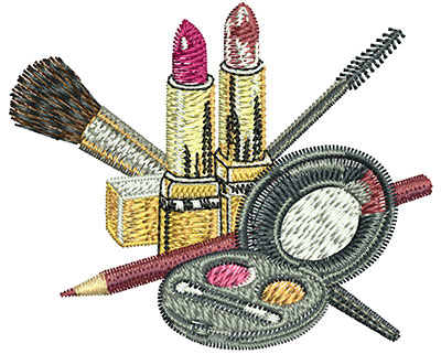 Embroidery Design: Make Up Layout Sm 2.50w X 2.06h