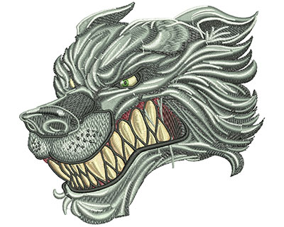 Embroidery Design: Wolf Stare Lg 5.52w X 5.02h