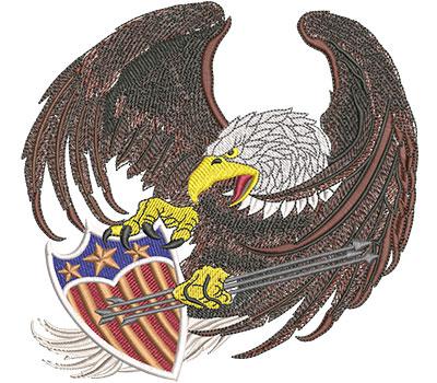 Embroidery Design: Screaming Eagle Lg 6.01w X 5.75h