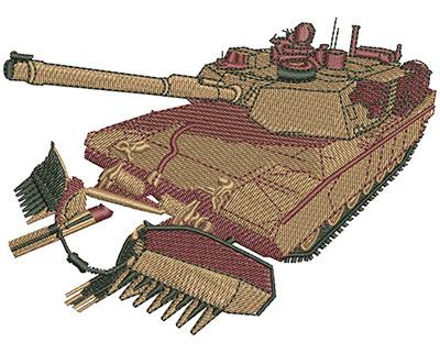 Embroidery Design: M1A1 Tank Lg 4.50w X 3.30h