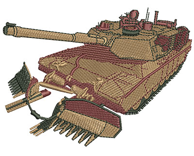 Embroidery Design: M1A1 Tank Med 4.00w X 2.93h