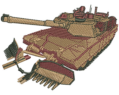 Embroidery Design: M1A1 Tank Sm 3.50w X 2.57h