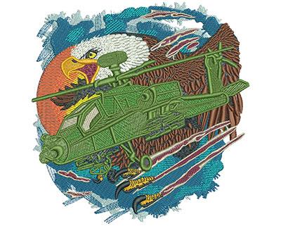 Embroidery Design: Apache Eagle Lg 5.89w X 5.98h