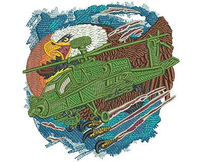 Embroidery Design: Apache Eagle Sm 3.95w X 4.00h