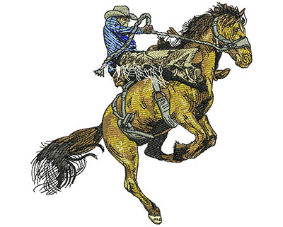 Embroidery Design: Rodeo Old School Lg 5.46w X 5.50h