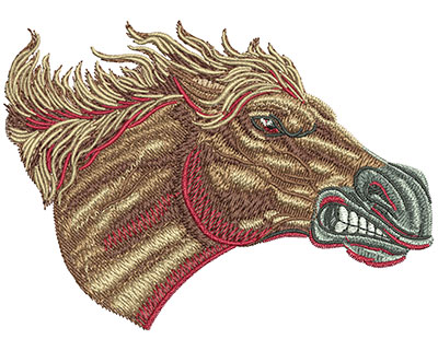 Embroidery Design: Mustang Charge Med 4.50w X 3.25h