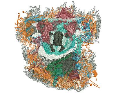Embroidery Design: Koala Sit Med 6.66w X 7h