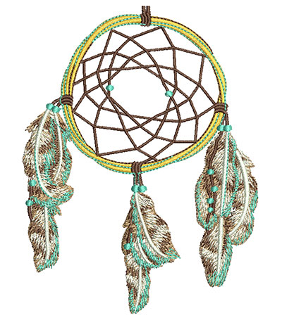 Embroidery Design: Dreamcatcher Med 3.79w X 4.95h