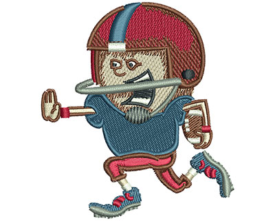 Embroidery Design: Football Kid Run Med 2.69w X 3.02h