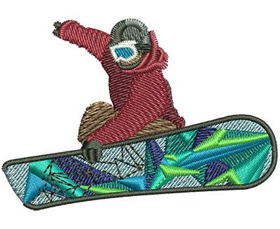 Embroidery Design: Snowboarder Sm 3.51w X 1.74h