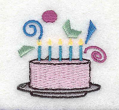 Embroidery Design: Birthday Cake 1.44w X 1.44h