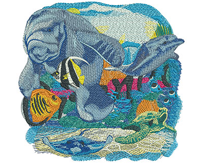 Embroidery Design: Sea Life Orlando Lg 7.98w X 7.67h