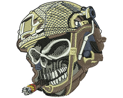 Embroidery Design: Skull Bullets Lg 3.32w X 3.56h