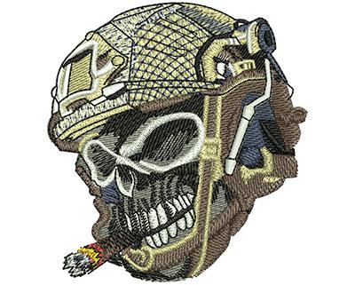 Embroidery Design: Skull Bullets Med 2.81w X 3.02h