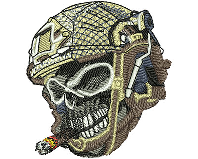 Embroidery Design: Skull Bullets Sm 2.31w X 2.47h