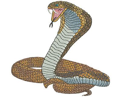 Embroidery Design: Cobra Mascot Lg 4.31w X 4.15h