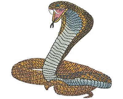 Embroidery Design: Cobra Mascot Sm 2.80w X 2.71h