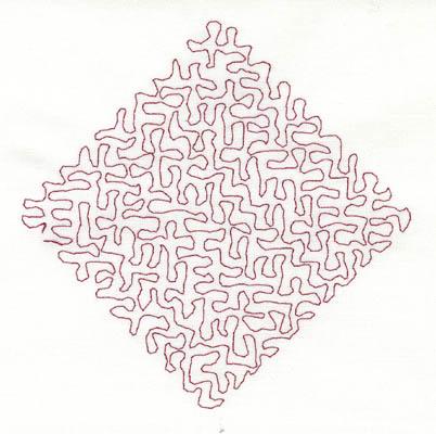 Embroidery Design: Stipple Diamond Low 4.28w X 4.28h