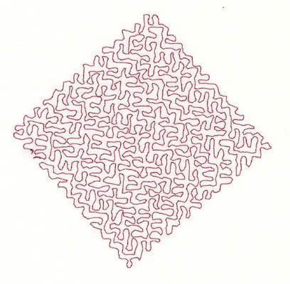 Embroidery Design: Stipple Diamond Medium 4.34w X 4.33h