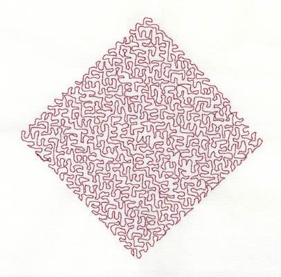 Embroidery Design: Stipple Diamond High 4.32w X 4.33h